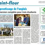 Article de presse sur le stage d'anglais intensif organise par Marie-Helene Cussac